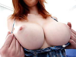 Woman playing with nipples